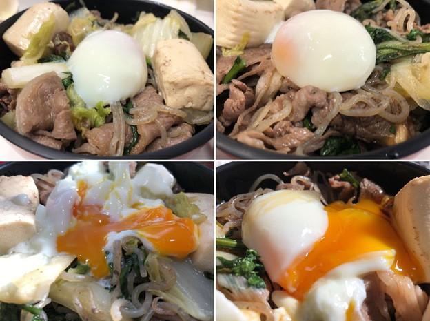 伊那さくらたまご7――温玉 + 神戸牛4――すき焼き