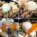 伊那さくらたまご6――温玉 + 神戸牛4――すき焼き
