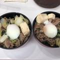 神戸牛4――すき焼き丼 + 伊那さくらたまご6――温玉