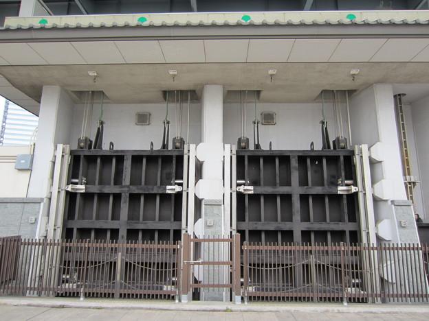 隅田川(墨田区横網1丁目 旧安田庭園西手河岸より)