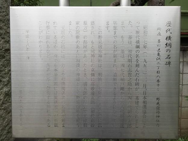 15.06.23. 野見宿禰神社(墨田区亀沢2丁目)歴代横綱之碑
