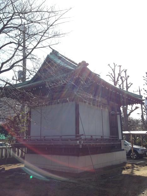 隅田川神社(墨田区堤通2丁目)舞殿