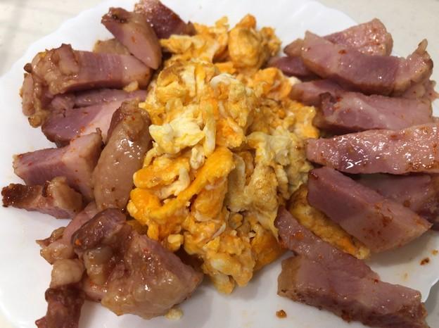 岐阜もみじたまご3――炒り卵 + 沖縄アグー豚ベーコン6