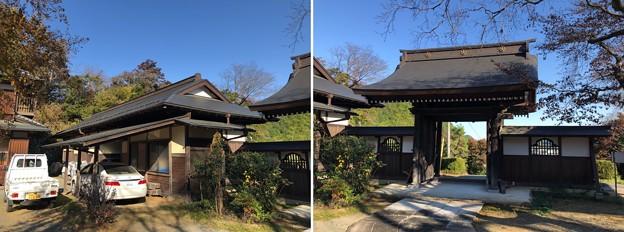 Photos: 開光院(あきる野市)長屋門? ・山門