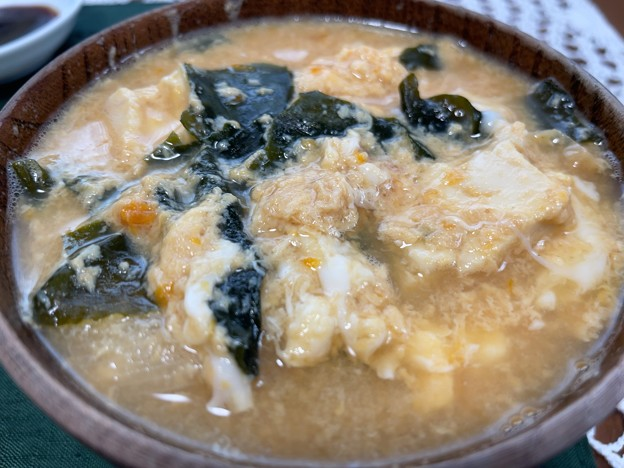 和歌山うめたまご5――味噌汁に溶き卵