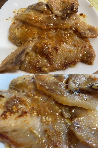 Photos: 秩父豚味噌漬け3――大蒜焼き