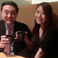 守永真彩と合田直弘(東京都区部内の飲食店にて)