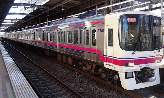 京王線系統8000系(フェブラリーステークス当日の府中駅にて)