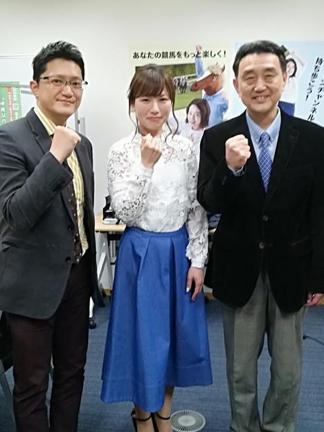 舩山陽司、田中歩、合田直弘の3名(Go Racing~世界の競馬~収録日)