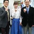 写真: 舩山陽司、田中歩、合田直弘の3名(Go Racing~世界の競馬~収録日)
