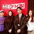 写真: 守永真彩、川村光義、吉本澄代、真矢の4名(真矢RADIOの収録前にて/右から)