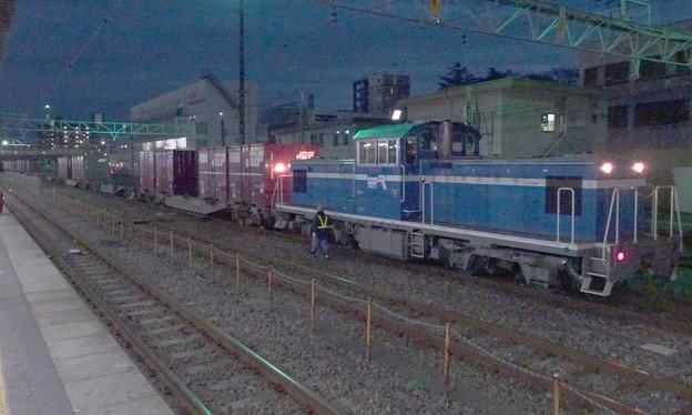 京葉臨海鉄道臨海本線KD60型DL+JR貨物コキ100系