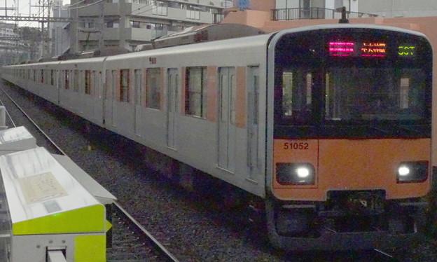 東武鉄道50050系 東急田園都市線急行(雹が降る直前に撮影)
