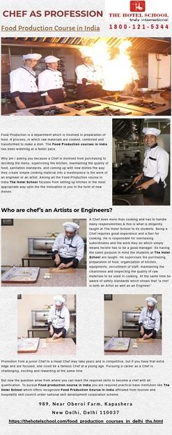 Food Production courses in Delhi