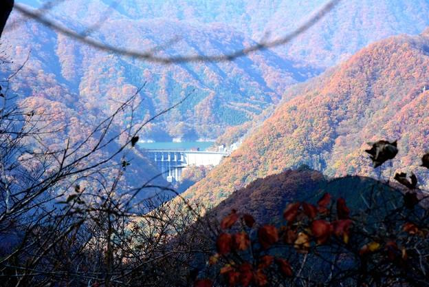 遠くにダムが見えます~