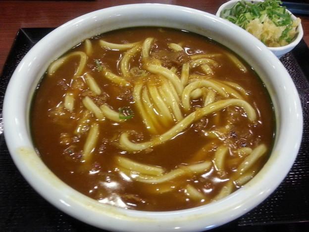 丸亀製麺 カレーうどん 得盛り 初めて食べるニャ~(  ̄▽ ̄)