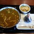 丸亀製麺 カレーうどん しゃけおにぎり(*^^*)