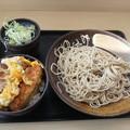 Photos: ゆで太郎 日替わり ミニカツ丼セット そば大盛りダヨーン(  ̄▽ ̄)