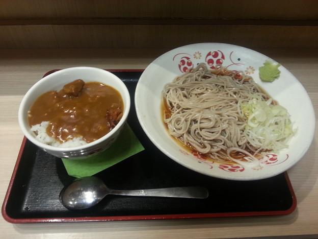 冷やしそば大盛り ミニカレー丼セット(≧▽≦)