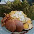 味噌つけ麺 二玉 つけ汁ピリ辛い~(  ̄▽ ̄)