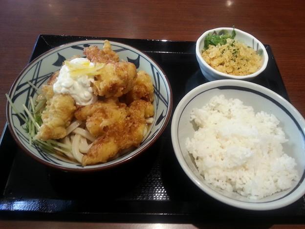 丸亀製麺 タル鶏天ぶっかけ 冷え&ご飯