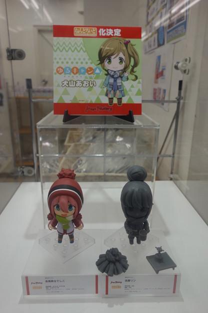 ゆるキャン△ リンちゃん&なでしこ フィギュア展示