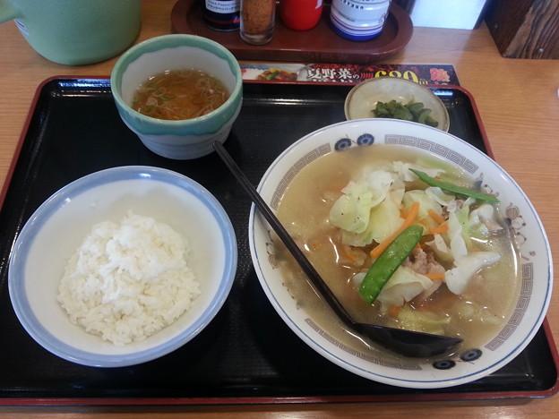 山田うどん タンメン&ライス(小)