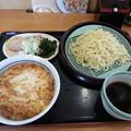 写真: 山田うどん かき揚げ丼 冷ざる ラーメン (*^^*)