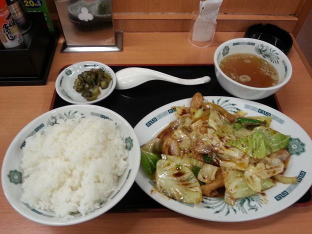 来来軒 ホイコーロー定食 ご飯大盛りダヨーン(  ̄▽ ̄)