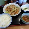 山田うどん 野菜炒め定食
