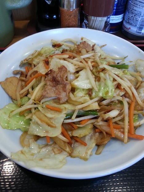 野菜炒め うま~(≧▽≦)