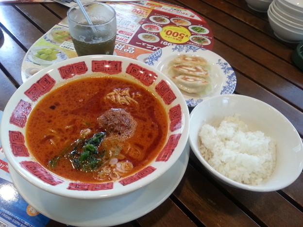 バーミヤン ラー油の担々麺 餃子 ランチ& 小ライス