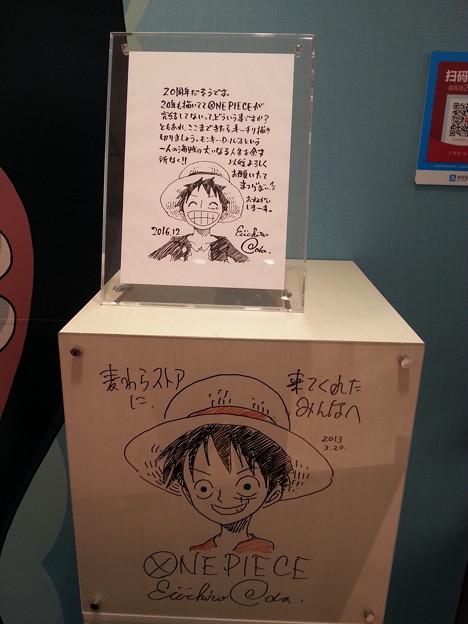 ワンピース 作者 尾田栄一郎先生 イラストサイン