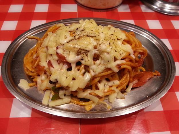 焼きチーズ ナポリタン美味しいデース(^-^)v