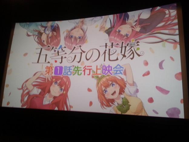 五等分の花嫁 先行上映会 面白かったo(^o^)o