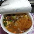 Photos: 万引き家族で食べてた  カレーうどん コロッケ