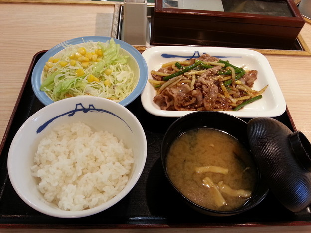 Photos: 松屋 オイスター炒め定食