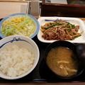 松屋 オイスター炒め定食