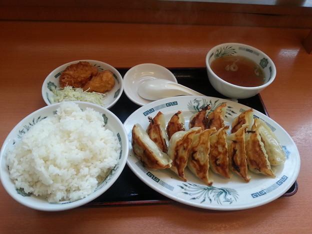 日高屋 餃子定食 ご飯大盛り\(^o^)/