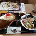 Photos: しょうゆラーメン カレーセット ミニハンバーグ付き
