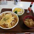 Photos: すき家 チーズ牛丼 大盛 サラダセット
