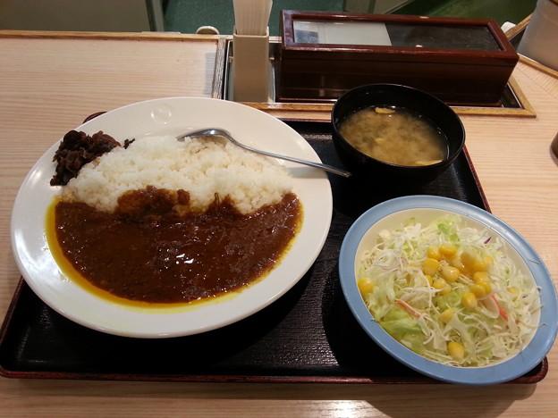 松屋カレー 大盛り 生野菜セット