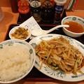 Photos: 今日初めての飯 肉野菜定食 ご飯大盛り(^-^)/