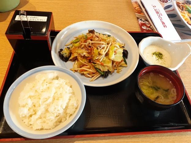 Photos: 久しぶりの外食 野菜炒め定食(^-^)/