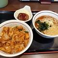 Photos: 山田うどん 日替わり 豚味噌焼肉丼セット ご飯大盛り