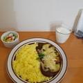 Photos: ナスかれチーズー大盛り プチサラダとラッシー付き