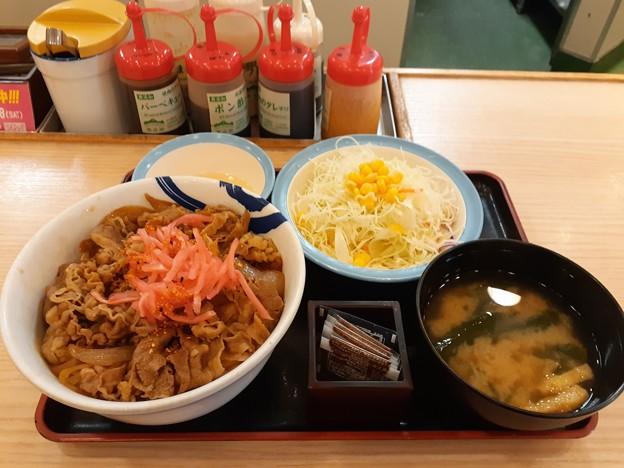 Photos: 今日初めて飯 牛丼大盛り
