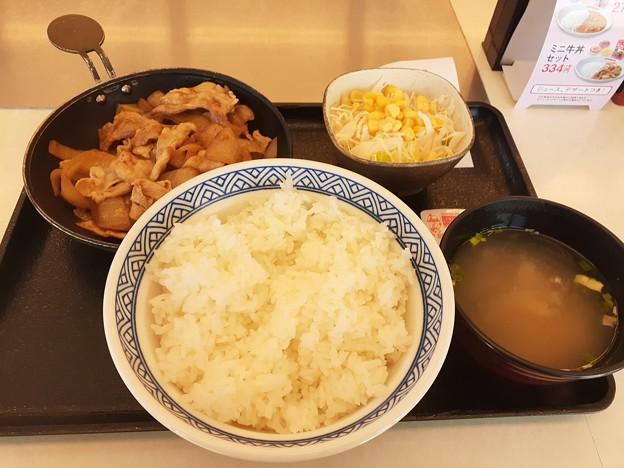 吉野家 豚生姜焼定食 ご飯大盛りo(^o^)o
