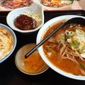 Photos: 麻辣ラーメン  ミニ玉子丼 ミニハンバーグ