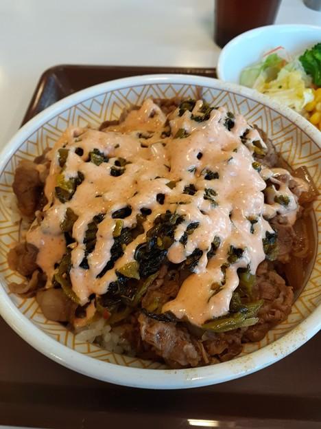 高菜明太マヨ牛丼 まあまあ美味しい